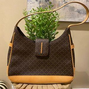 La Tour Eiffel Bag Brown/ Tan Leather Zip Top